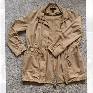 women's* beige combat* jacket*